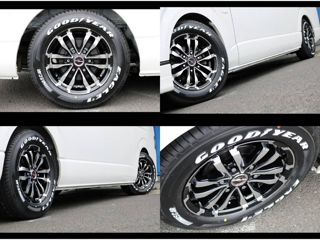 新品シャレン16インチアルミホイール&グッドイヤーナスカータイヤ! | トヨタ ハイエースコミューター 3.0 GL ディーゼルターボ 4型10人乗り3ナンバー