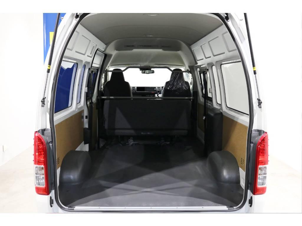 メーカーオプションのリアクーラー&リアヒーターも装備しております! | トヨタ ハイエースバン 2.8 DX ワイド スーパーロング ハイルーフ GLパッケージ ディーゼルターボ 4WD TSS付