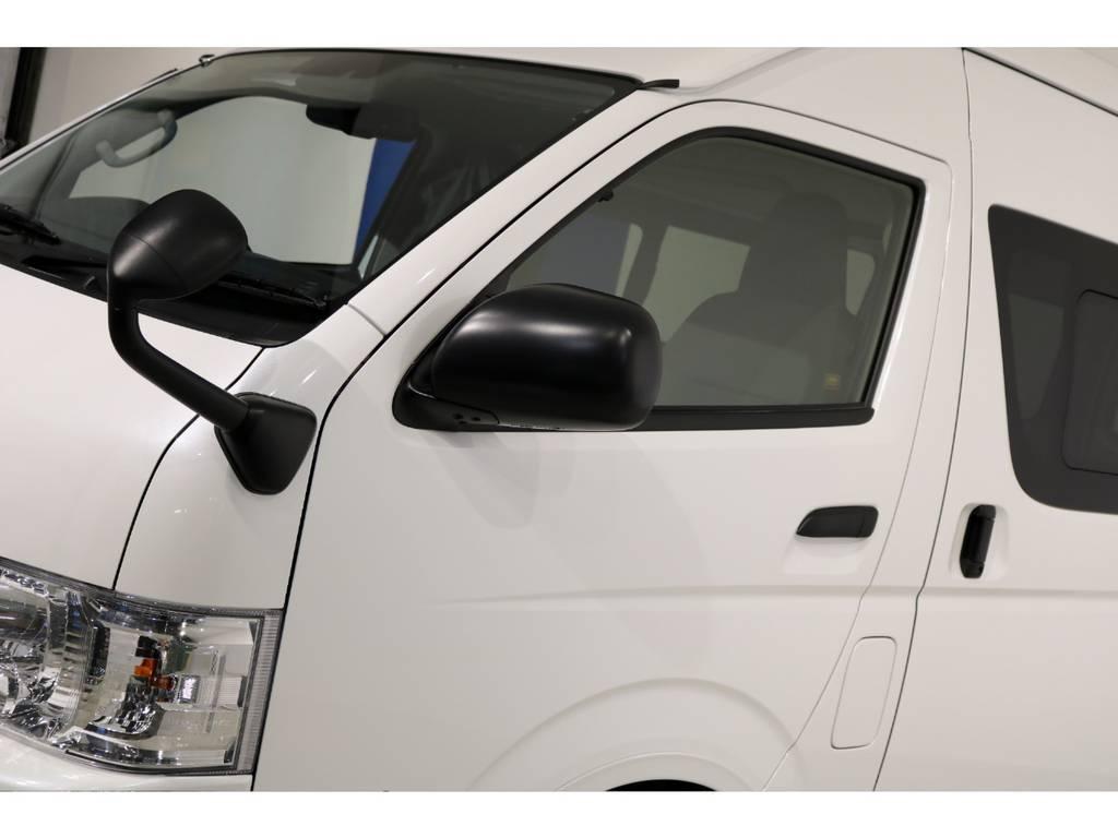 GLパッケージの電動格納ミラーも装備! | トヨタ ハイエースバン 2.8 DX ワイド スーパーロング ハイルーフ GLパッケージ ディーゼルターボ 4WD TSS付