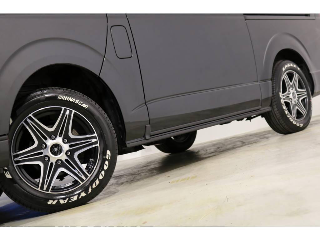 ブラックダイヤモンド16インチアルミホイール&ナスカータイヤ! | トヨタ ハイエースバン 3.0 スーパーGL ロング ディーゼルターボ 4WD 4型
