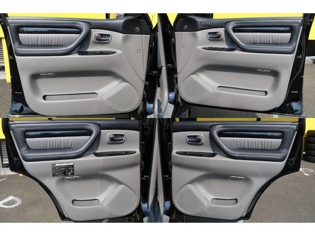 室内は何十項目にも亘るプロの専門ルームクリーニング施工済みです!小さなお子様連れのご家族も安心してお乗りいただけます!外せる部品は外し、特殊洗剤&用品で可能な限り汚れや使用感は除去します★ | トヨタ ランドクルーザーシグナス 4.7 60thスペシャルエディション 4WD 最終型 低走行9万km 特別仕様車