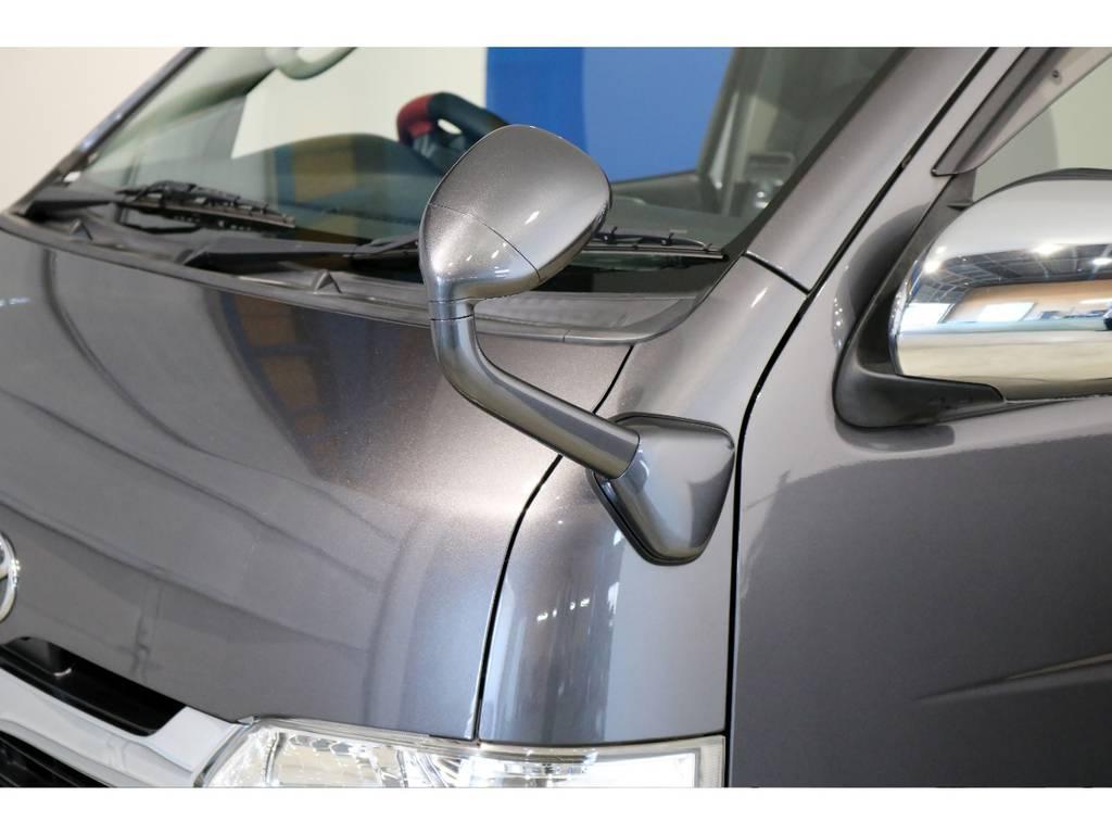 コーナーミラーはボディ同色塗装! | トヨタ レジアスエース 3.0 スーパーGL ロングボディ ディーゼルターボ 4WD 4型前期モデル