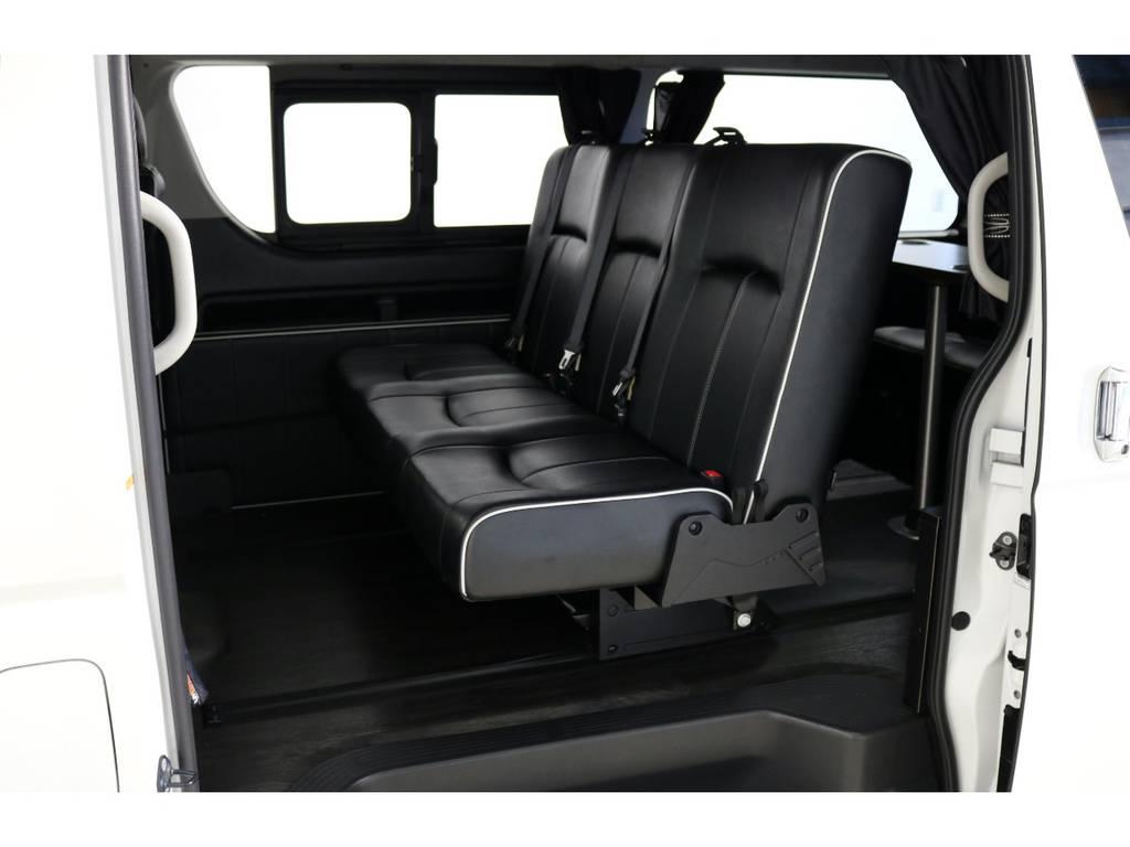 セカンドシートはバタフライシートに変更! | トヨタ ハイエース 2.7 GL ロング ミドルルーフ 4WD 内装アレンジ