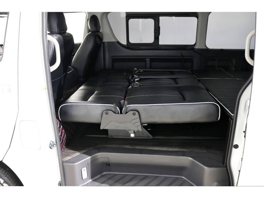 リアはフルフラットアレンジなど様々なシーンに対応できます! | トヨタ ハイエース 2.7 GL ロング ミドルルーフ 4WD シートアレンジ