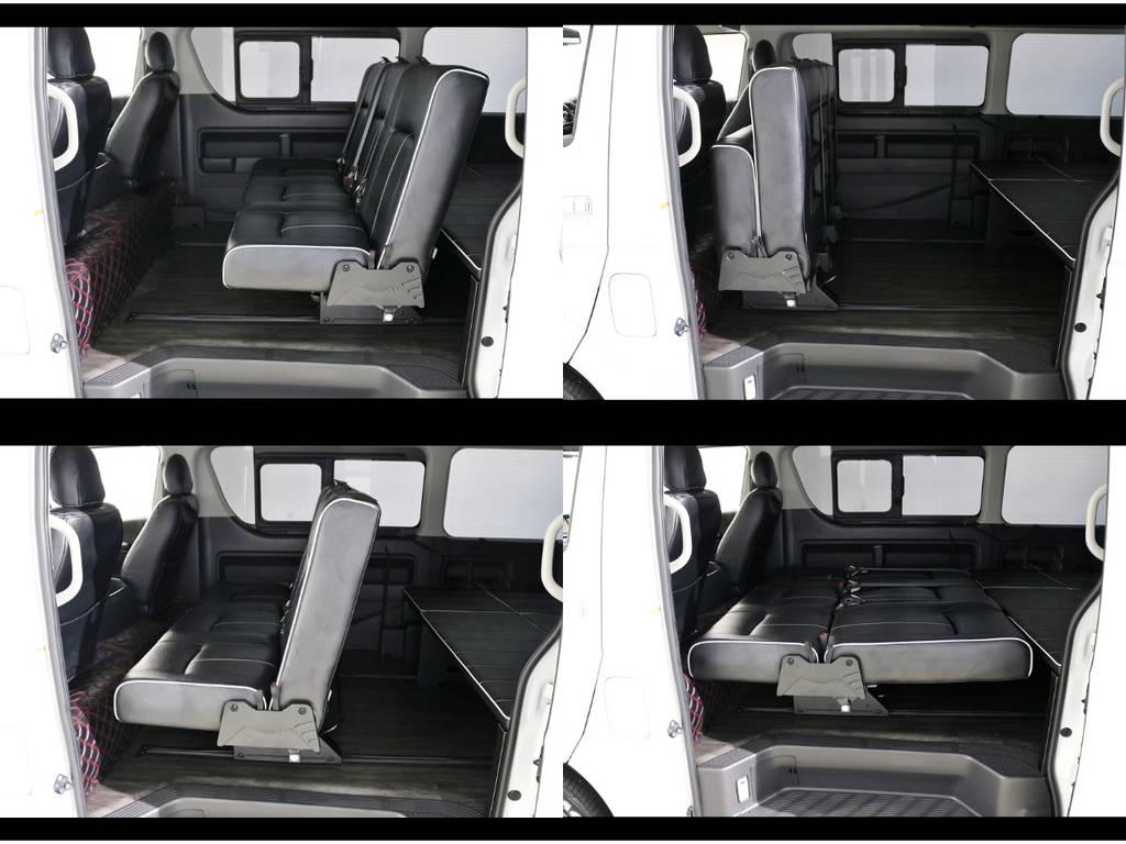 様々なシートアレンジが可能です! | トヨタ ハイエース 2.7 GL ロング ミドルルーフ 4WD シートアレンジ