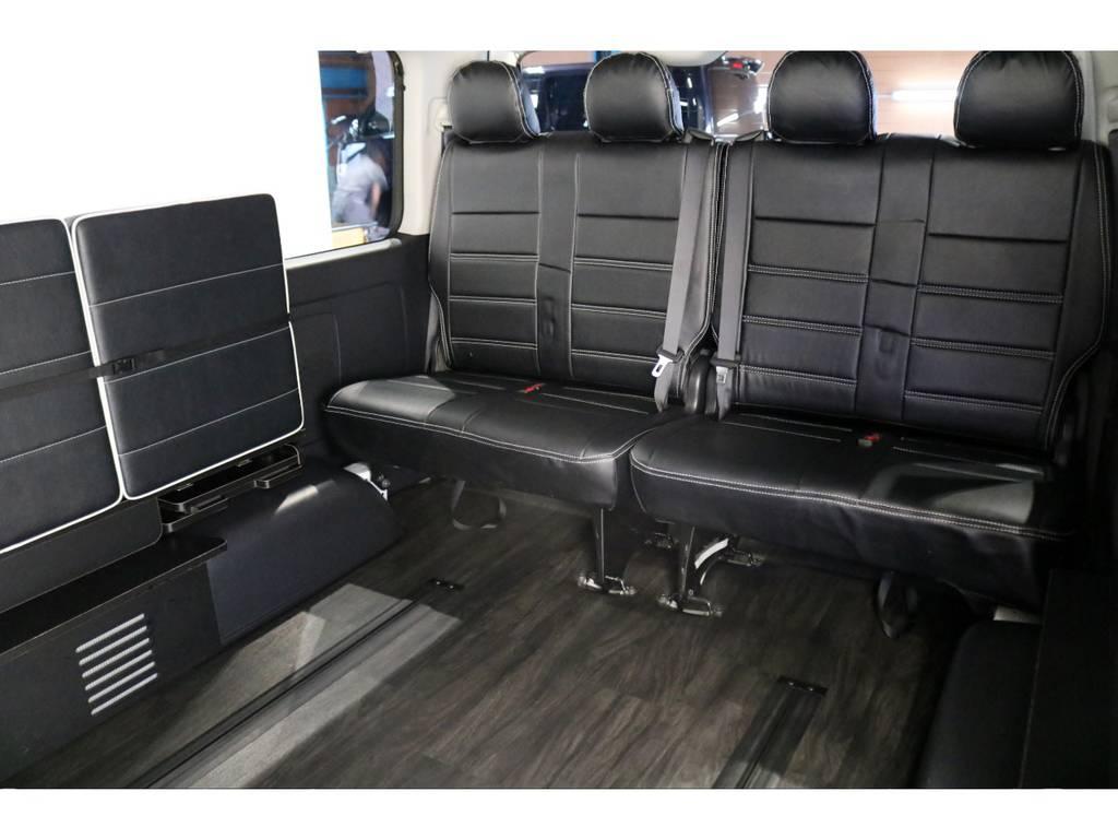 最後列の4列目もリクライニング加工も施されてます! | トヨタ ハイエース 2.7 GL ロング ミドルルーフ 4WD シートアレンジ