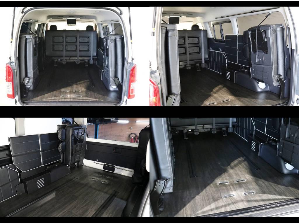 この荷室の広さはバンのように使えます! | トヨタ ハイエース 2.7 GL ロング ミドルルーフ 4WD シートアレンジ