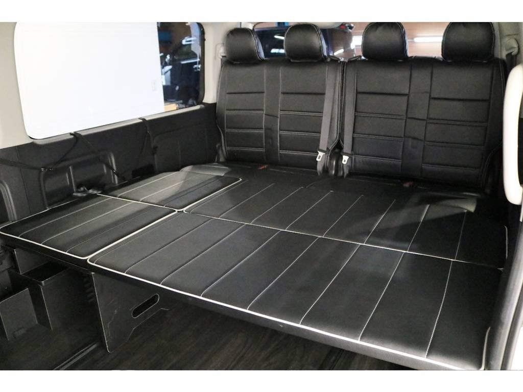 リアベッドは折り畳み可能です! | トヨタ ハイエース 2.7 GL ロング ミドルルーフ 4WD シートアレンジ