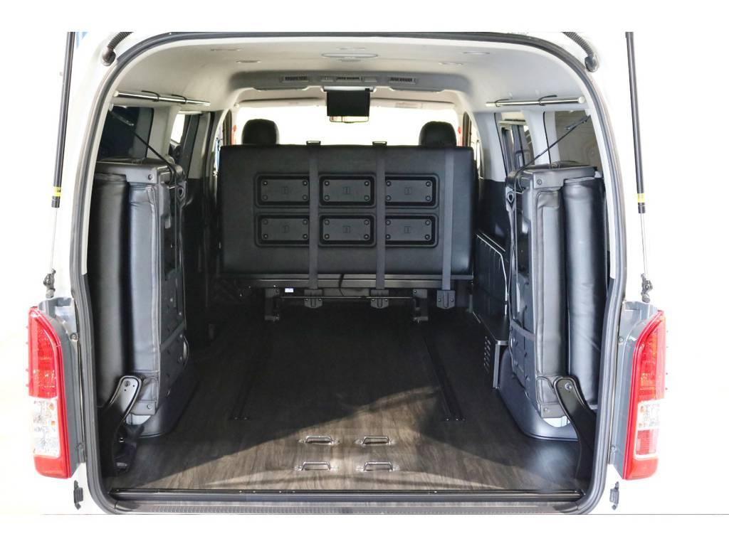 広々とした荷室にもできます! | トヨタ ハイエース 2.7 GL ロング ミドルルーフ 4WD シートアレンジ