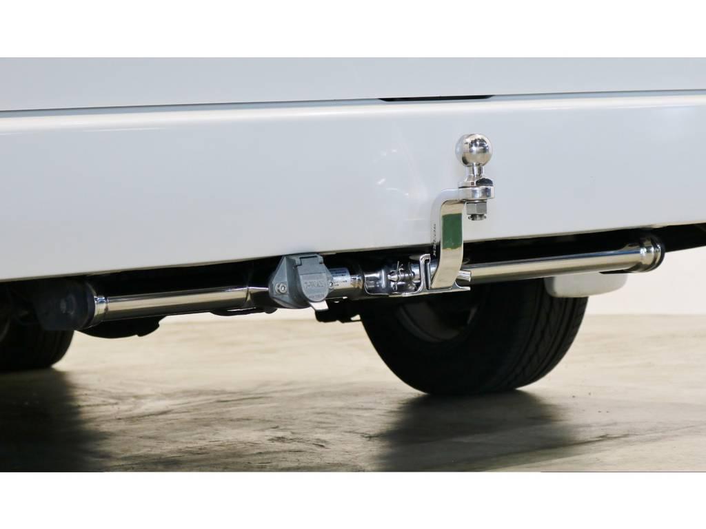 リアにはSOREXステンレスヒッチメンバー付き! | トヨタ ハイエース 2.7 GL ロング ミドルルーフ 4WD シートアレンジ