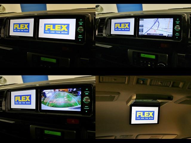 カロッツェリアSDナビ&サブモニター&フリップダウンモニター搭載のトリプルモニタ―です!バックカメラナビ出力加工済みですので快適で安心なドライブを!