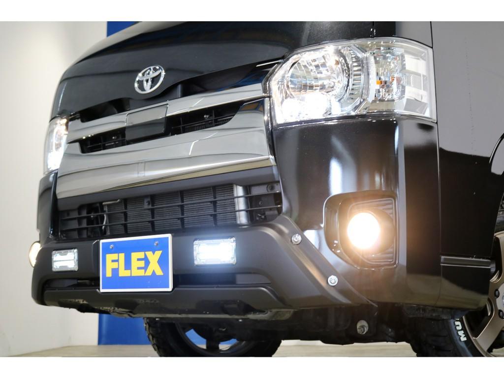 トライスターズバンパー(LEDデイライト付き)でオフロードスタイルを強調しております!