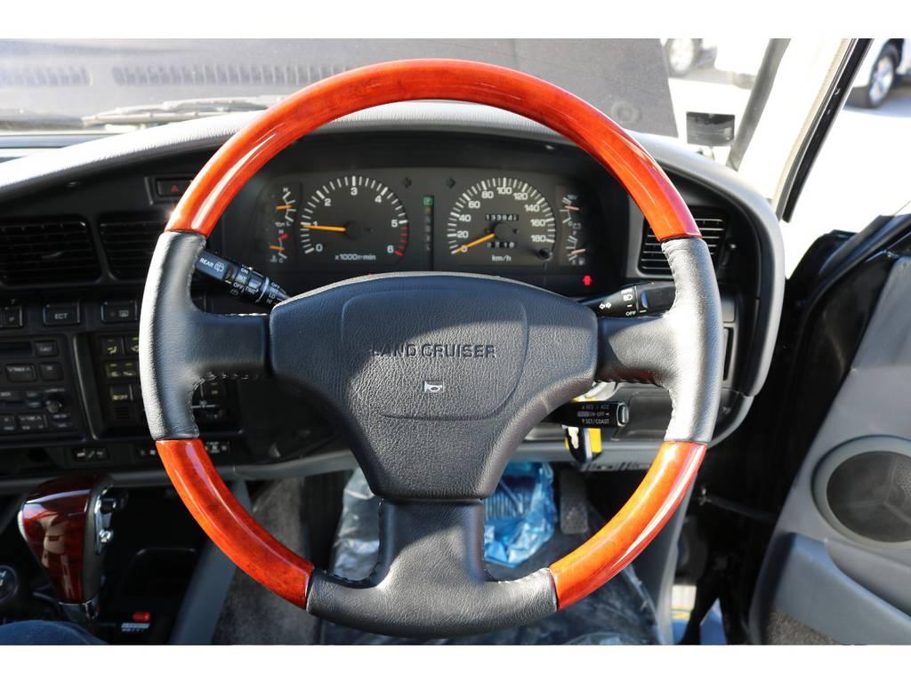 クリスタリヘッドライトにLEDコンビテール!   トヨタ ランドクルーザー80 4.5 VXリミテッド Gパッケージ 4WD 角目四灯 3インチUP
