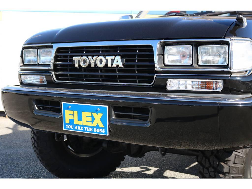 追加でHIDヘッドやLEDライトへのカスタムも承っておりますので、お気軽にご相談下さい!   トヨタ ランドクルーザー80 4.5 VXリミテッド Gパッケージ 4WD 角目四灯 3インチUP