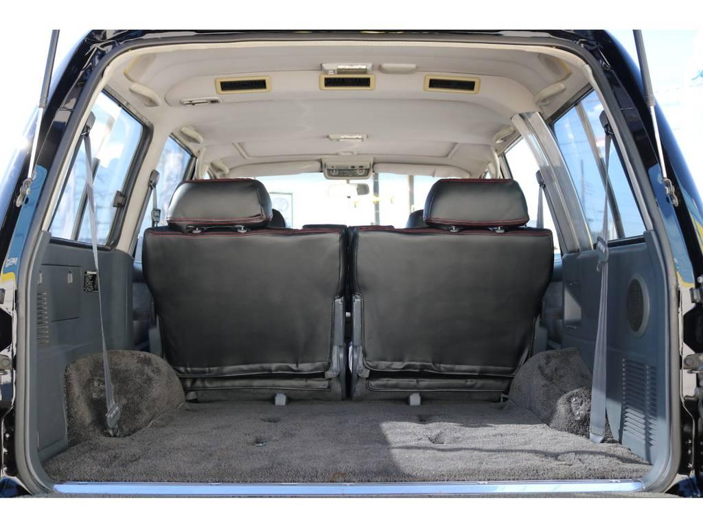 広々ご利用いただけるラゲッジスペース!   トヨタ ランドクルーザー80 4.5 VXリミテッド Gパッケージ 4WD 角目四灯 3インチUP