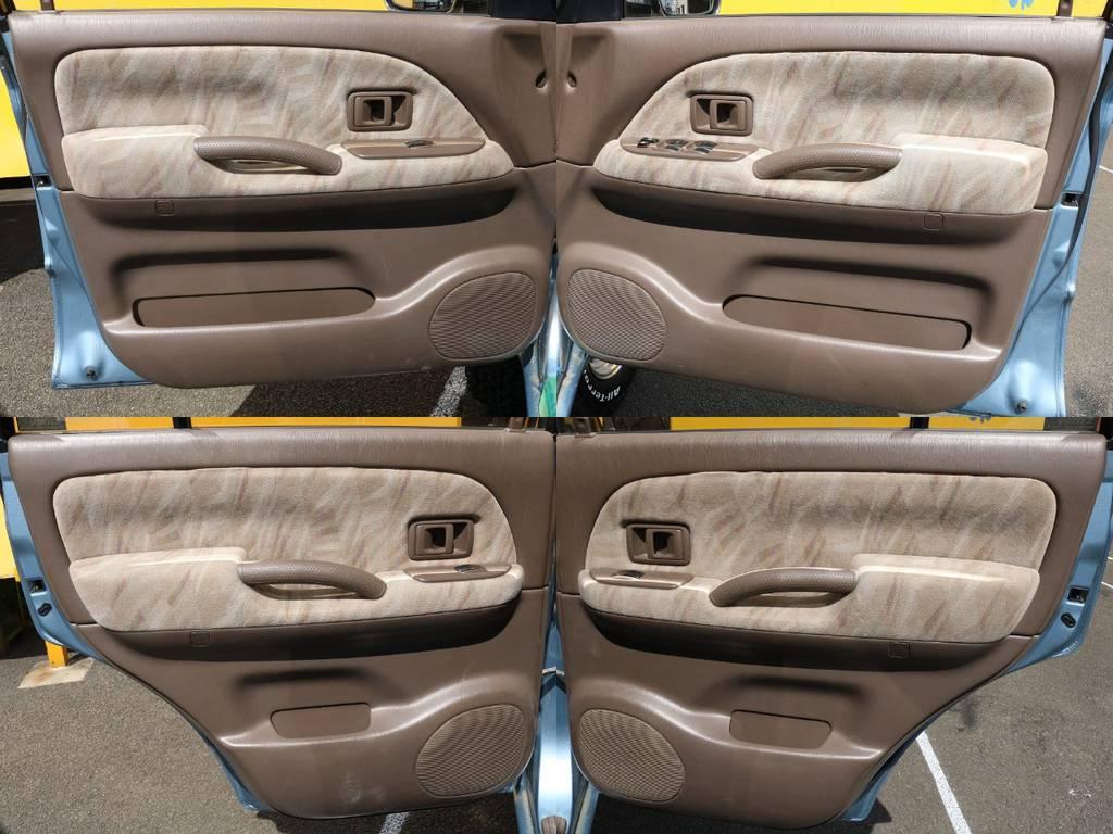 各ドアパネルも目立つ傷や汚れもなく良いコンディションです♪   トヨタ ランドクルーザープラド 3.0 TX ディーゼルターボ 4WD Renoca アメリカンクラシック