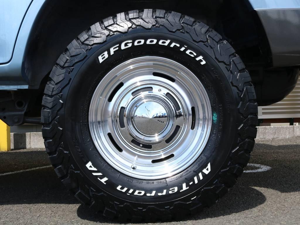 DEAN クロスカントリー 16インチアルミホイール&BFグッドリッチ KO2の組み合わせ★クラシカルな車の雰囲気にもバッチリ似合っています♪   トヨタ ランドクルーザープラド 3.0 TX ディーゼルターボ 4WD Renoca アメリカンクラシック