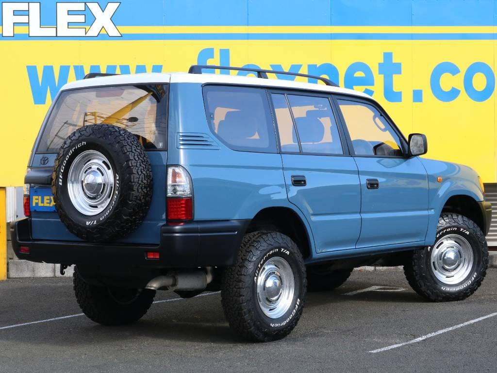 後期型3000ccディーゼルターボ!パワーだけでなく燃費にも優れた1台となっております♪燃料代が安いこともあり、経済的にも維持のしやすいおすすめの1台です♪ | トヨタ ランドクルーザープラド 3.0 TZ ディーゼルターボ 4WD NEWアルルブルー 丸目&ナロー