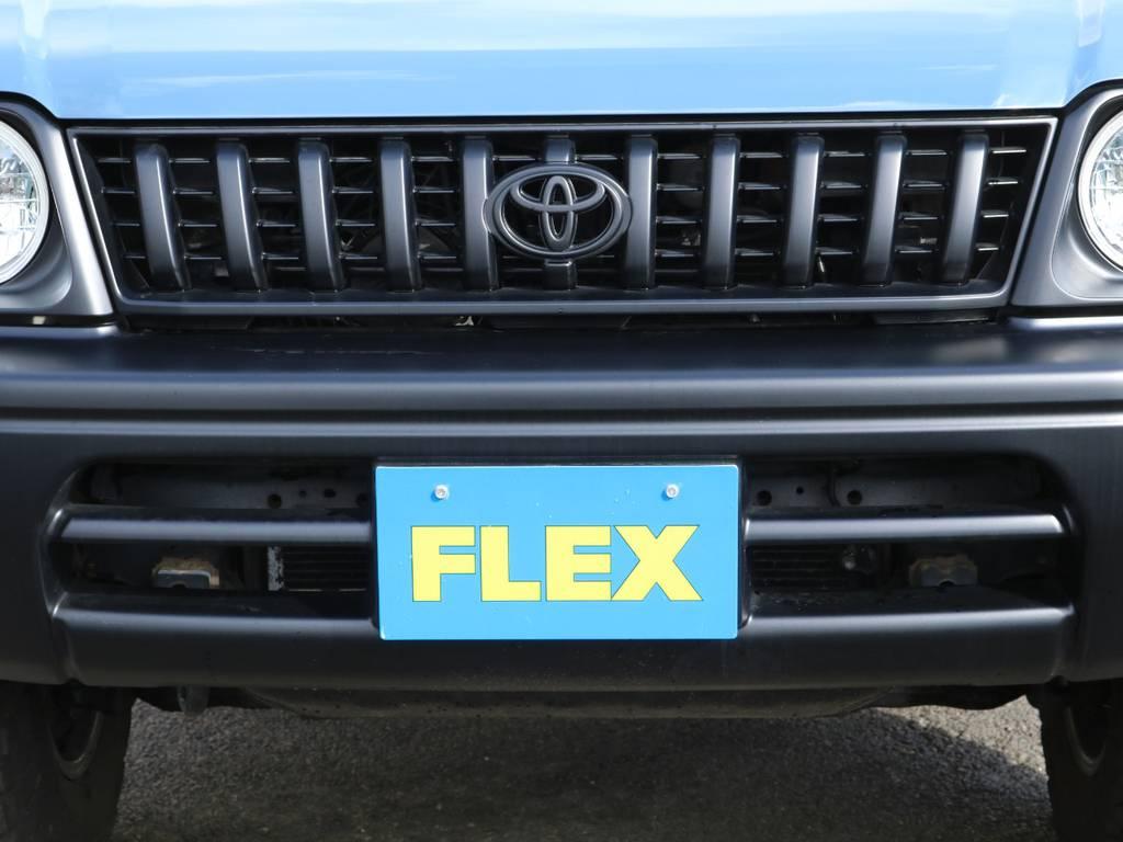ボディカラーのアルルブルーにピッタリの各所マットブラック塗装済み♪クラシック感溢れる1台となっております!他の方とかぶりたくない方にもおすすめの1台です♪ | トヨタ ランドクルーザープラド 3.0 TZ ディーゼルターボ 4WD NEWアルルブルー 丸目&ナロー