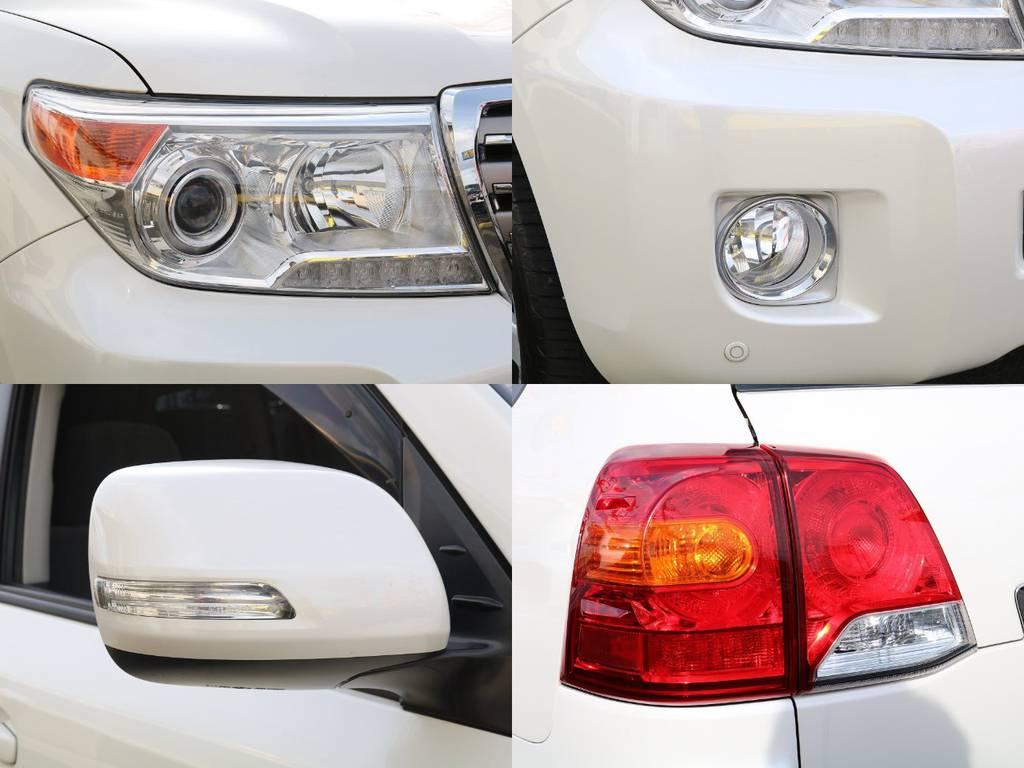 ランプ類は前期型に比べデザインが変更になり、よりスタイリッシュな印象になってます★ドアミラーウィンカーもついてますので、安全面でも向上してます★ | トヨタ ランドクルーザー200 4.6 AX 4WD 中期 ワンオーナー ZX用20AW