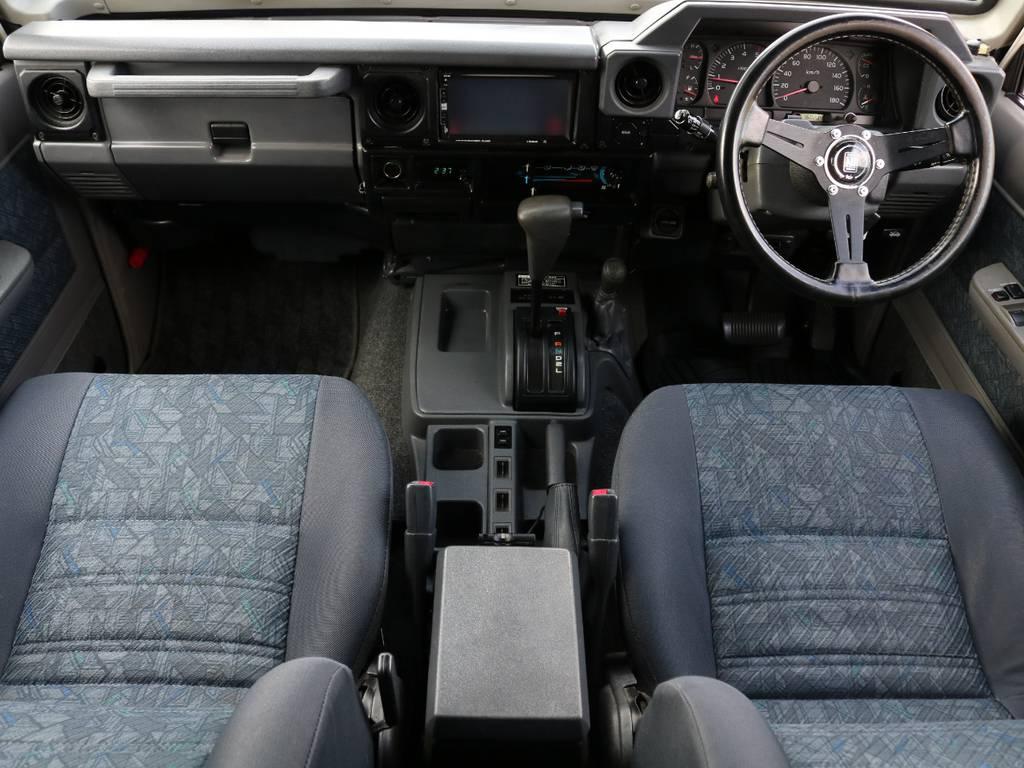 内装は当店にて徹底的にルームクリーニング致しました!外せる箇所は外し、可能な限り使用感は除去しております!納車前には再度クリーニングさせていただきますので、ご安心ください♪   トヨタ ランドクルーザー70 4.2 ZX FRPトップ ディーゼル 4WD ジムライン16AW グッドリッチKM2