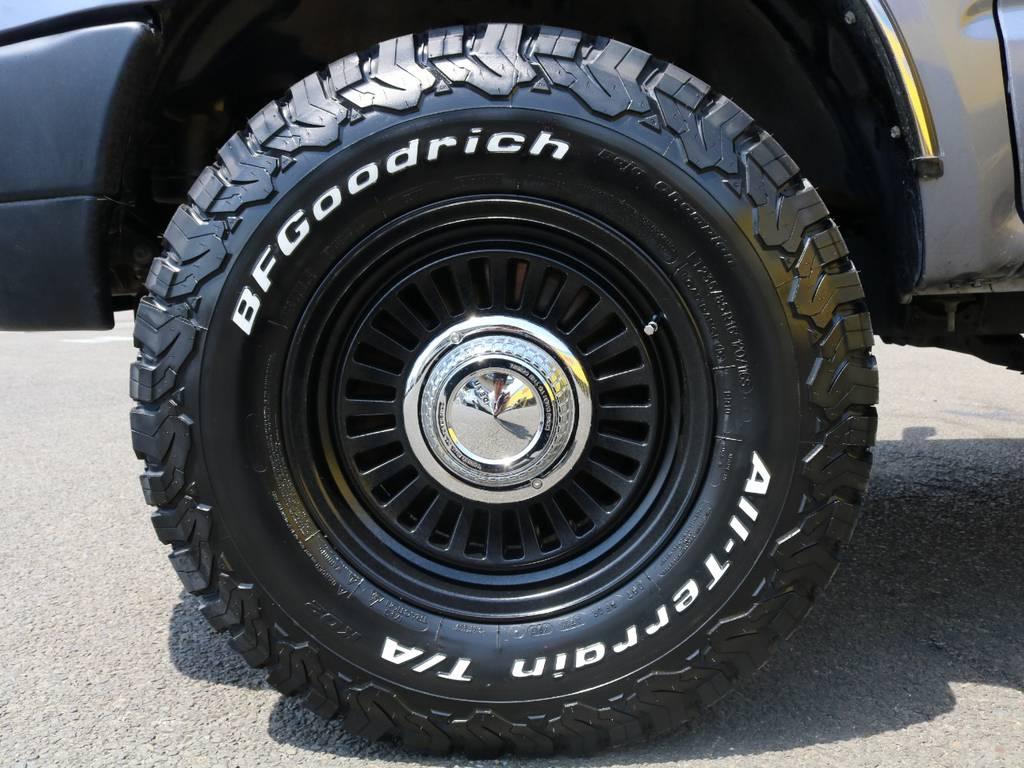 BFグッドリッチA/TにDEANカリフォルニア16インチアルミホイールの組み合わせ♪街乗りでもアウトドアでも抜群に映える組み合わせです♪ | トヨタ ハイラックスサーフ 2.7 SSR-X ワイドボディ 4WD ナロー DEAN16AW&KO2 2UP