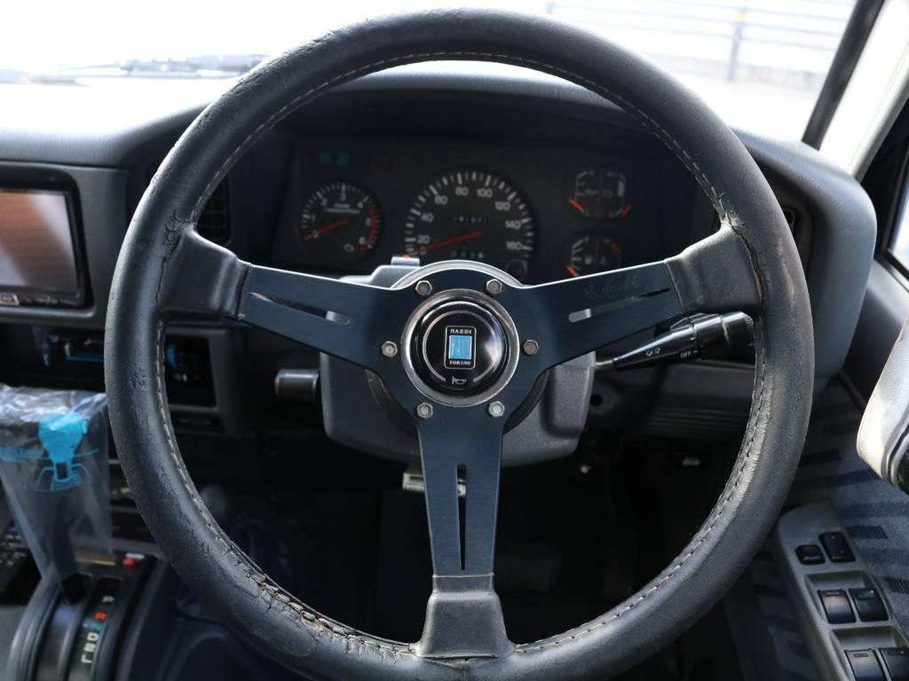 ナルディ★ステアリング クラシックレザー ブラックレザー&ブラックスポーク♪ | トヨタ ランドクルーザープラド 3.0 SXワイド ディーゼルターボ 4WD ナロー換装 ブラV&KM2 2インチUP