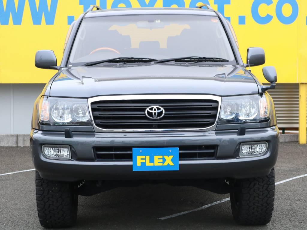 当店の在庫車は全て車輌検査専門会社である第三者機関(株)AIS、日本自動車鑑定協会(JAAA)にて1台1台、必ず二重の車輌チェックを実施しております。修復歴有りの車、事故車の無断販売はいたしません。 | トヨタ ランドクルーザー100 4.7 VXリミテッド 4WD 中期5速AT マルチレス リフトアップ