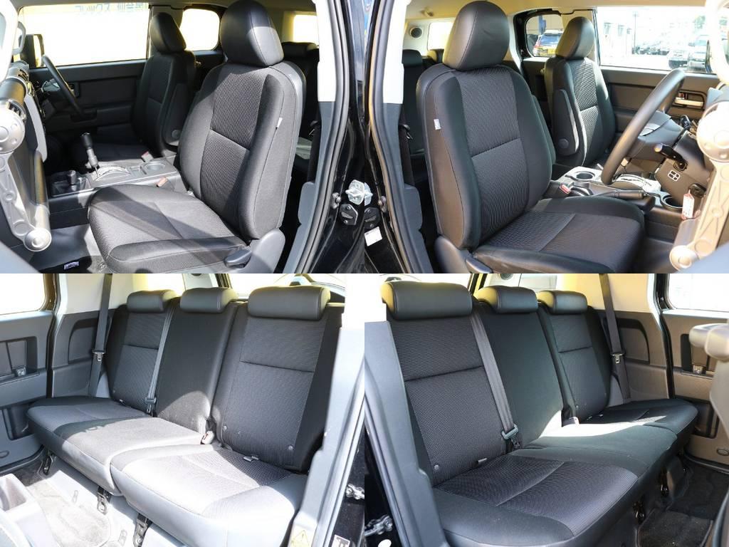 各シートも良い状態を保っておりますので新鮮な気分でお乗りできますよ★ | トヨタ FJクルーザー 4.0 オフロードパッケージ 4WD MGヴァンパイア17AW KO2 2UP