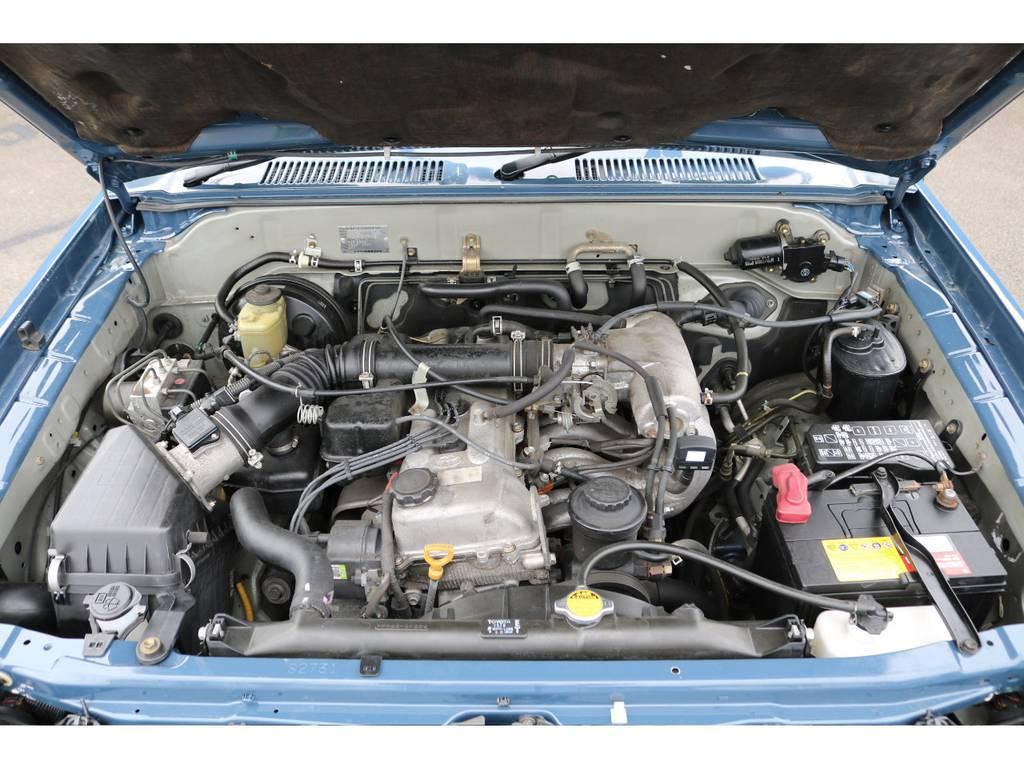人気の2700ccガソリンエンジン★タイミングチェーン式なのでタイミングベルトの交換が不要&低燃費で経済的なエンジンです♪ | トヨタ ランドクルーザープラド 2.7 TX 4WD NEWアルルブルー 丸目&ナローボディー