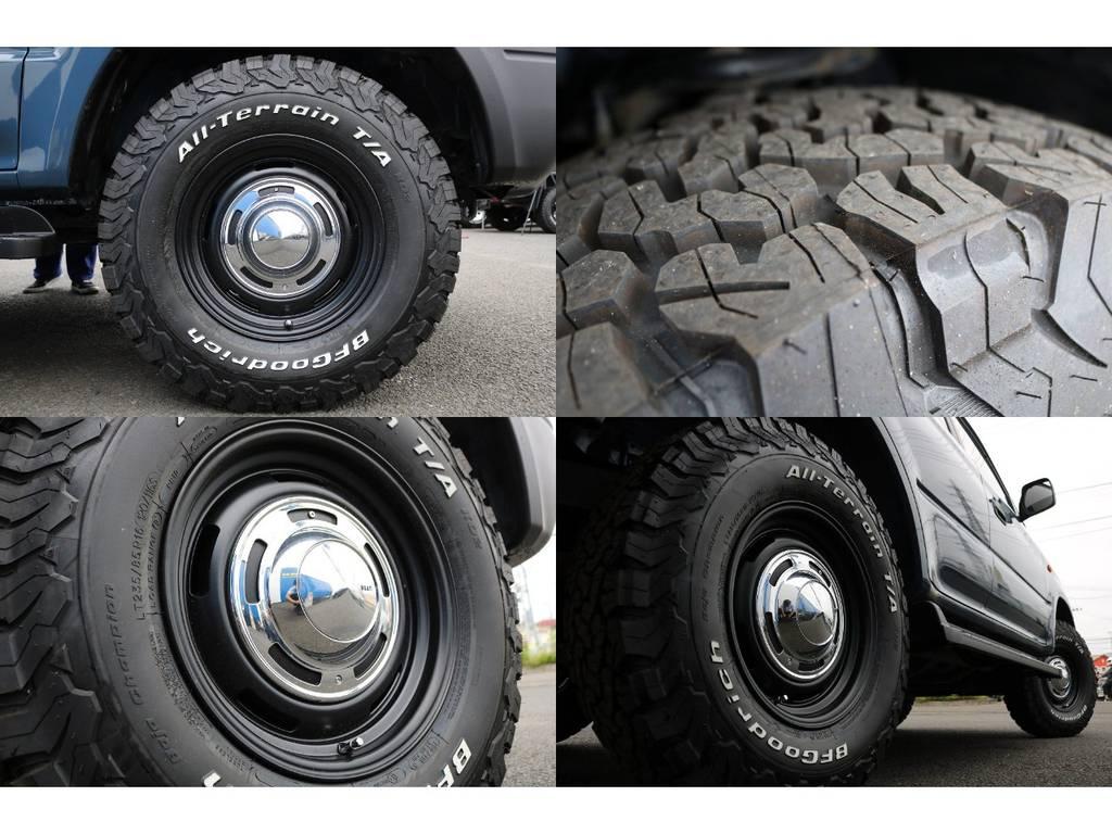 DEANクロスカントリー16inchホイール&BFグッドリッチ KO2の新品セットとなります★背面タイヤまでの5本セットで揃えてあります♪ | トヨタ ランドクルーザープラド 2.7 TX 4WD NEWアルルブルー 丸目&ナローボディー