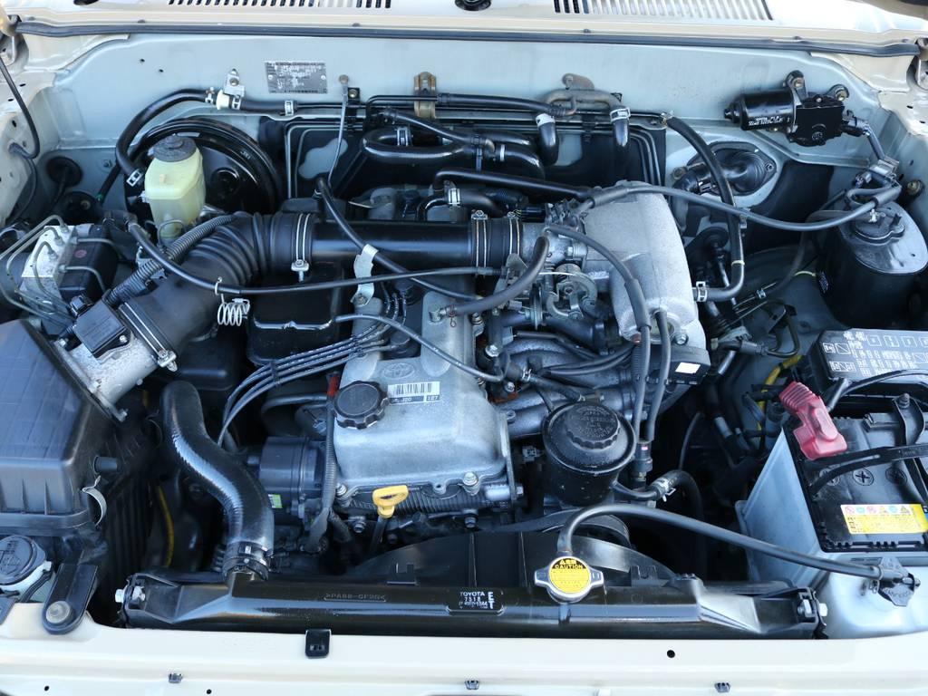 タイミングベルトの交換が不要な3RZエンジン☆メンテナンスも楽々です♪ | トヨタ ランドクルーザープラド 2.7 TX リミテッド 4WD NEWベージュ 丸目&ナロー換装