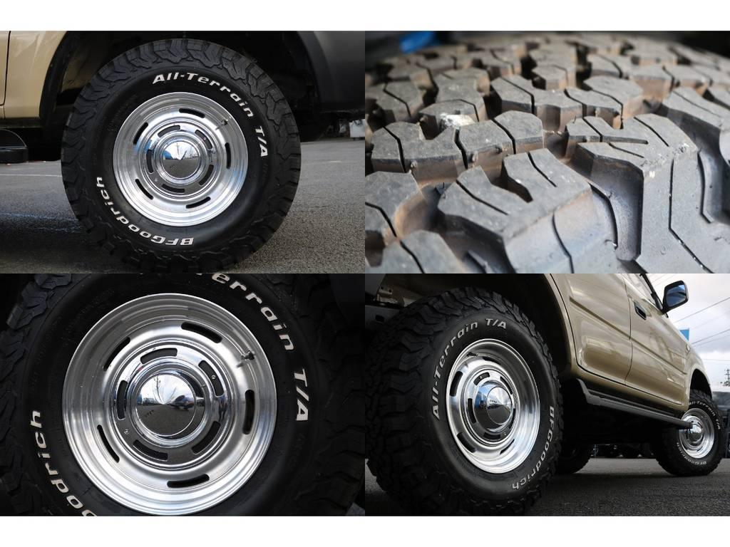 新品DEANクロスカントリー&BFグッドリッチKO2をインストール☆ | トヨタ ランドクルーザープラド 2.7 TX リミテッド 4WD NEWベージュ 丸目&ナロー換装