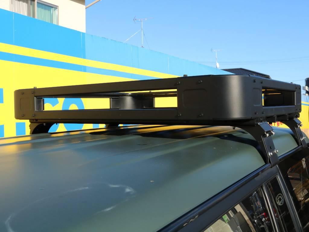 ルーフキャリア★ | トヨタ ランドクルーザープラド 3.0 TX ディーゼルターボ 4WD アーミーグリーン 丸目&ナロー換装