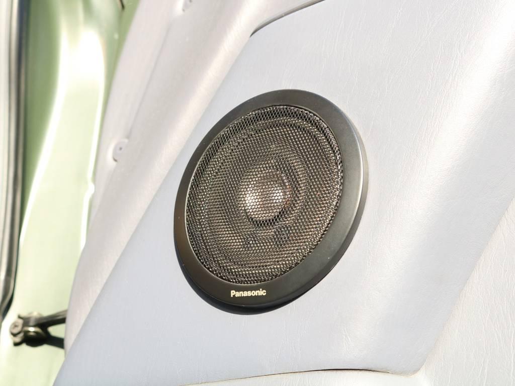 社外スピーカー♪良質な音で音楽をお楽しみいただけますよ! | トヨタ ランドクルーザープラド 3.0 TX ディーゼルターボ 4WD アーミーグリーン 丸目&ナロー換装