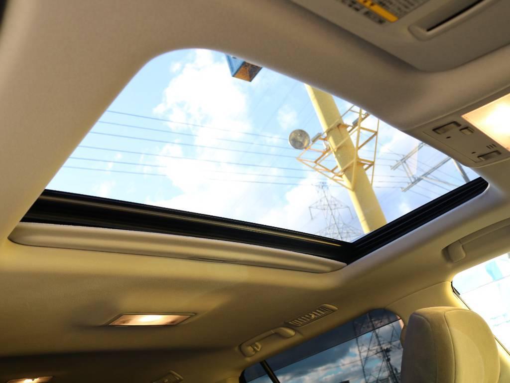 サンルーフ♪晴れた日のドライブにはかかせませんね★換気も楽々できますよー! | トヨタ ランドクルーザー200 4.6 AX 4WD 現行型 ZX仕様 モデリスタエアロ