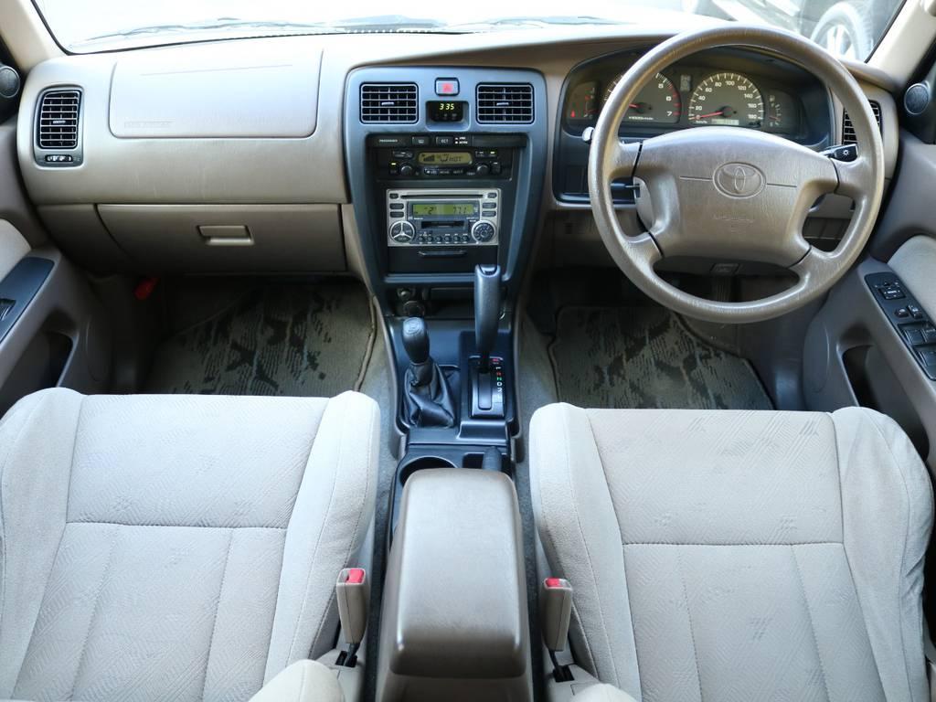 内装も新車当時のオリジナル状態をキープ☆ブラウンを基調とした色合いがとても温かみがありますね♪ | トヨタ ハイラックスサーフ 2.7 SSR-V 4WD 低走行9万km 新車ワンオーナー