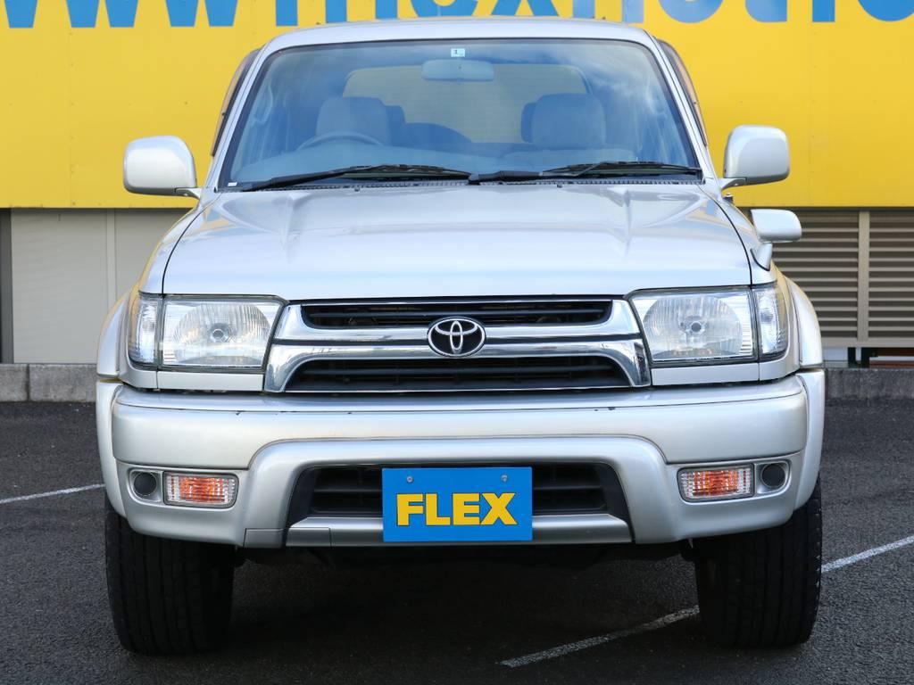 FLEXグループは「すべての人に愛車を」をコンセプトに車種別に全国展開中★愛車と一緒に、ライフスタイルを充実させてもらいたいという思いで、ランクル仙台泉店では皆様のご要望になんでもお応えします★ | トヨタ ハイラックスサーフ 2.7 SSR-V 4WD 低走行9万km 新車ワンオーナー