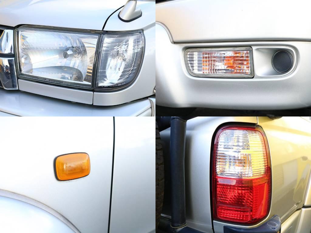 各ライト類もコンディション良好です♪LED換装などもお気軽にご相談下さい! | トヨタ ハイラックスサーフ 2.7 SSR-V 4WD 低走行9万km 新車ワンオーナー