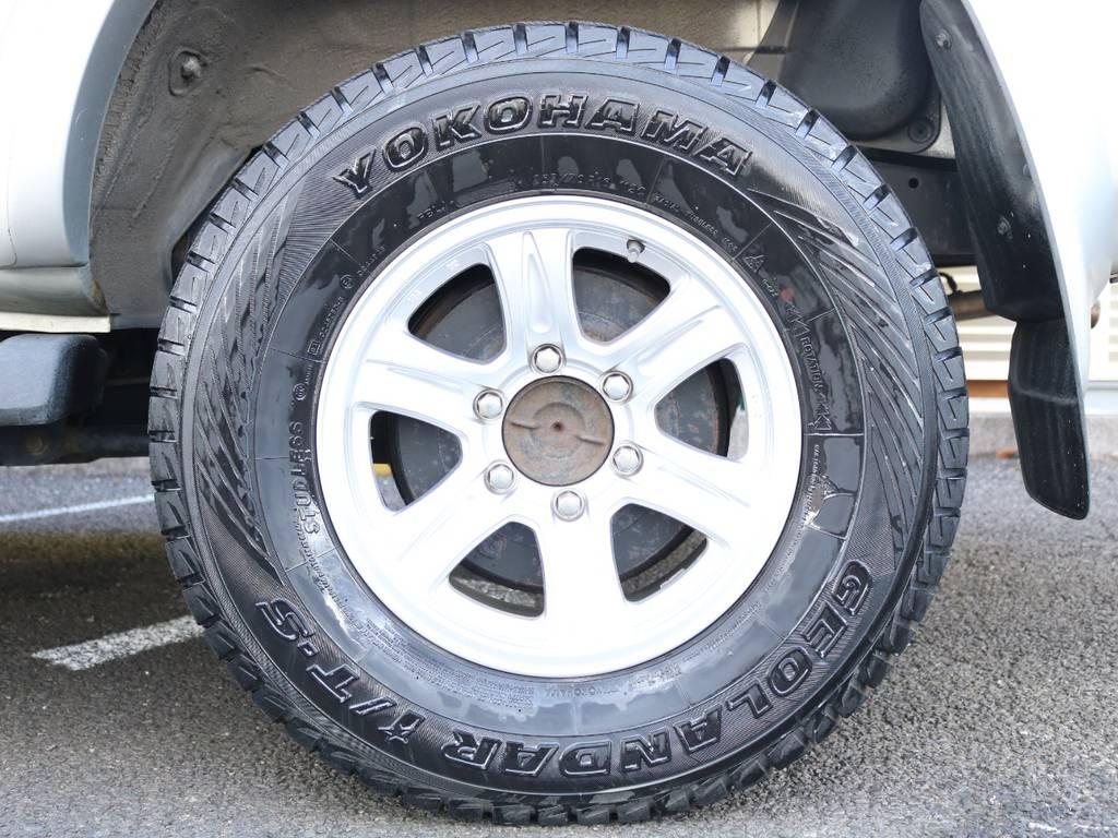 スタッドレスタイヤが装着されていますので今の時期も安心な上、ウインタースポーツにも活躍が期待の1台です♪ | トヨタ ハイラックスサーフ 2.7 SSR-V 4WD 低走行9万km 新車ワンオーナー