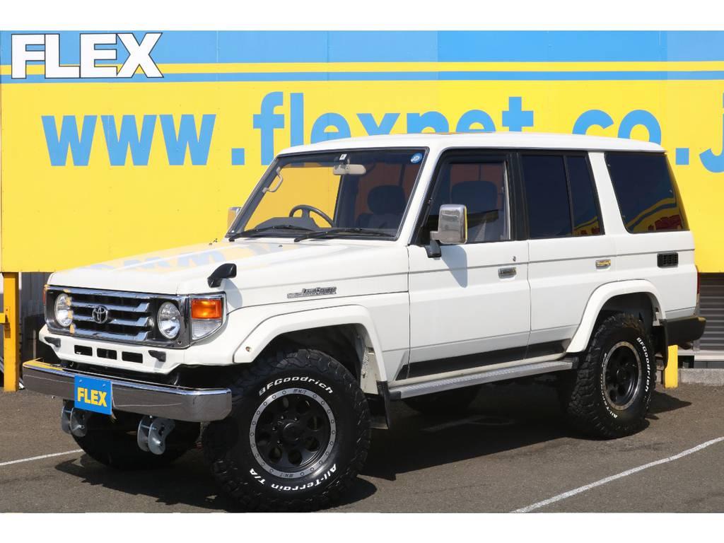  トヨタ ランドクルーザー70 4.2 ZX ディーゼル 4WD 低走行 2インチUP バハロック16AW