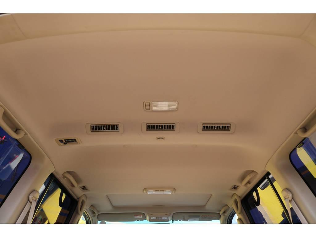 天張りも垂れや擦れ跡も無くコンディションは良好です! | トヨタ ランドクルーザー100 4.7 VXリミテッド Gセレクション 4WD 中期 マルチレス 22AW ガナドール