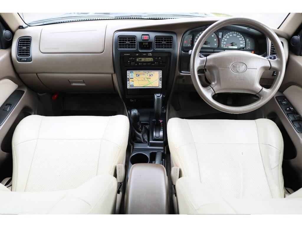 人気のベージュインテリア★ベージュレザー調シートカバーもついてます♪ | トヨタ ハイラックスサーフ 2.7 SSR-V 4WD ブラック クラシックⅢ16AW KO2