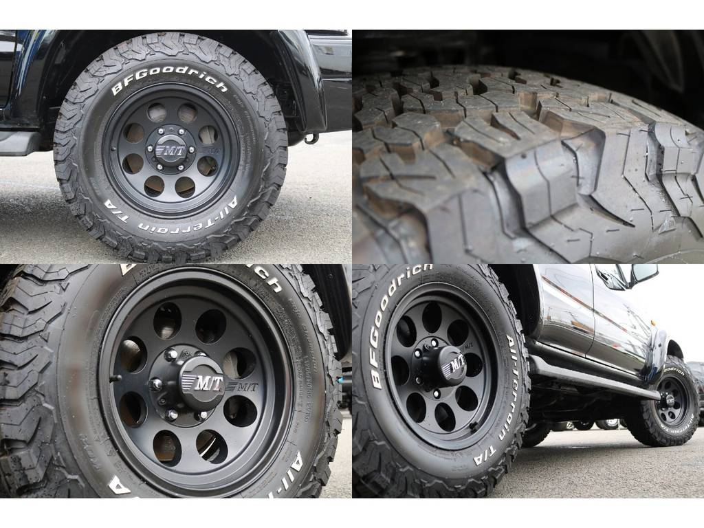 ミッキートンプソン クラシックⅢ16インチアルミホイール&BFグッドリッチKO2の組み合わせ★ボディーカラーに合わせたマットブラックのホイールカラーがカッコ良い♪ | トヨタ ハイラックスサーフ 2.7 SSR-V 4WD ブラック クラシックⅢ16AW KO2