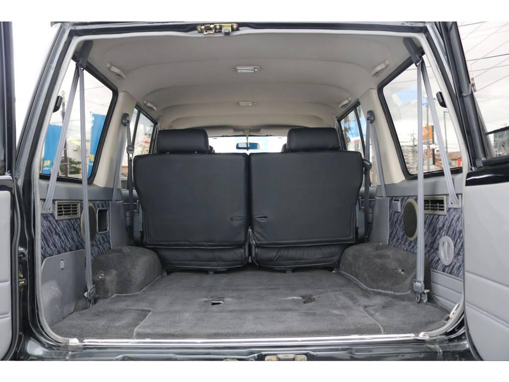 荷室も広々してます★1ナンバー登録の場合、年間の自動車税は¥17,600となります!実は普通乗用車の小型車より安いんですよ♪