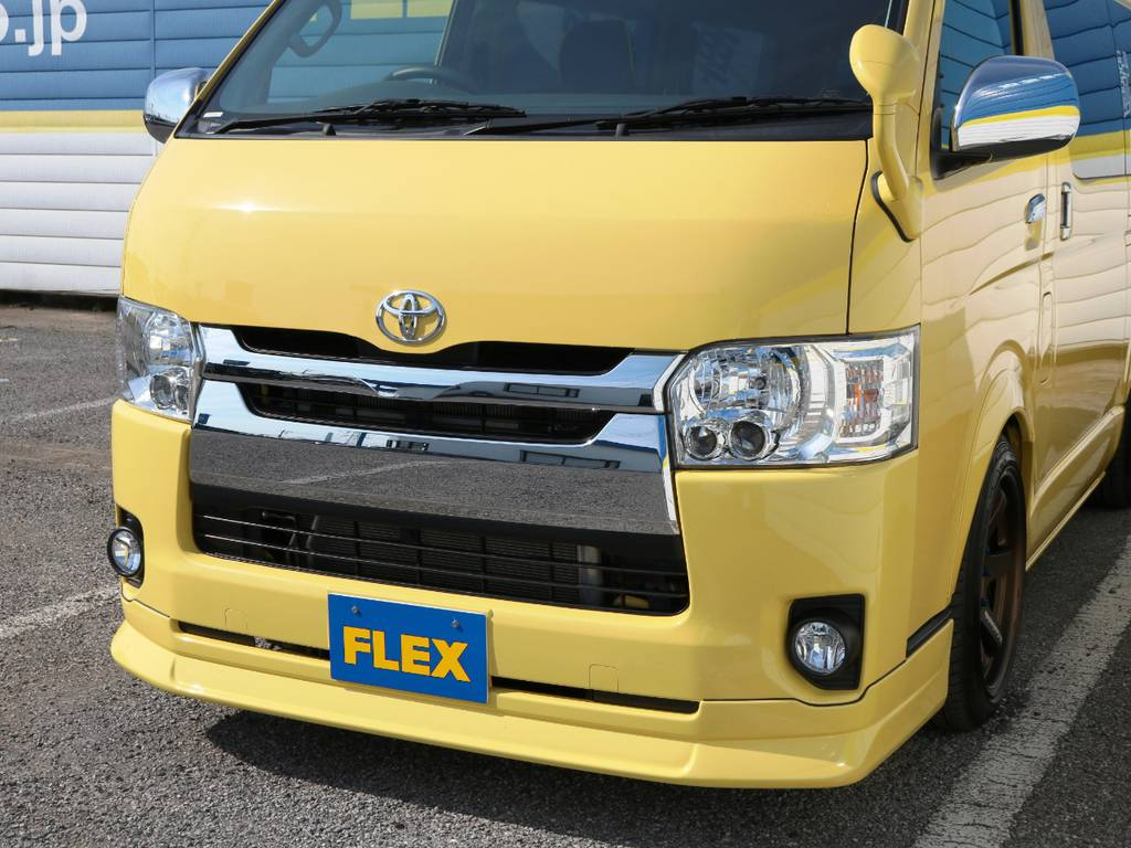 FLEXオリジナル フロントリップスポイラー Delfino Line!