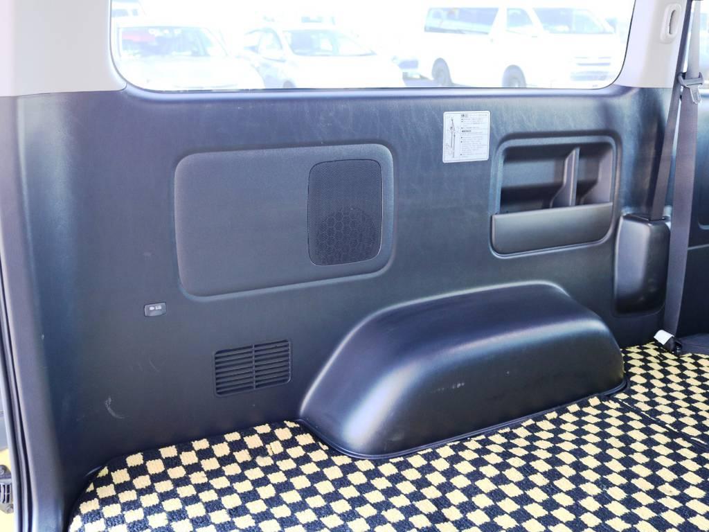 助手席側 荷室トリム(壁)の状態!使用に伴う小傷がございます。 | トヨタ ハイエースバン 2.0 スーパーGL ロング 特設カラー イエロー 千葉北店元試乗車