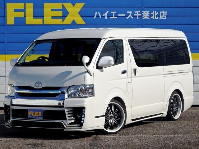 新車ハイエースW「GL」10人乗り【DynastyEXIST EVO】フルエアロコンプリート!GPOハイキャス20インチAW・SDナビ・後席
