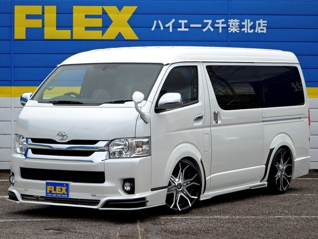 新車ハイエースW「GL」10人乗り、完成Hearts【Astron】フルエアロコンプリート!!BULLHORN20インチAW・ローダウン・黒