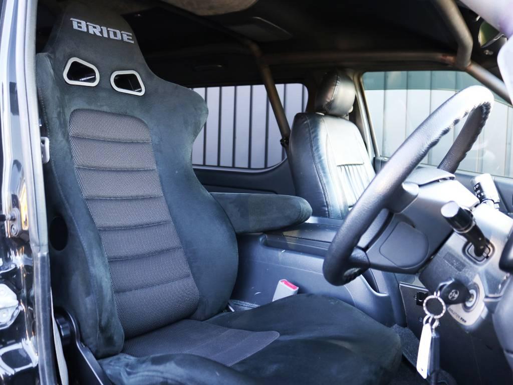 BRIDE セミバケットシート! | トヨタ ハイエースバン 2.7 スーパーGL ワイド ロング ミドルルーフ 3型フェイスチェンジ ワイドバン